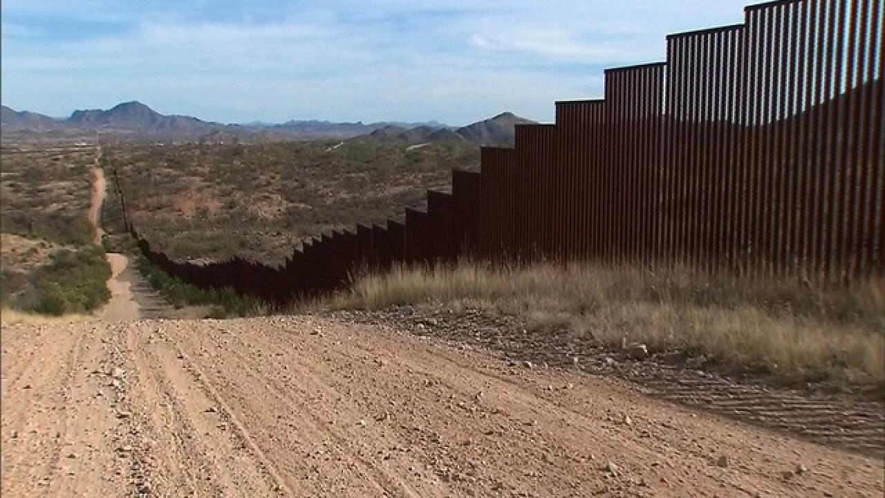 Tribal members oppose border wall, protesting McCain