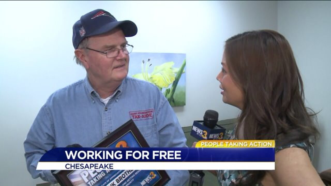 Need help filing your taxes? Chesapeake volunteer says no problem!