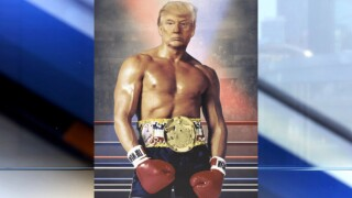President Trump tweets photo of himself as fictional boxer Rocky Balboa with no explanation