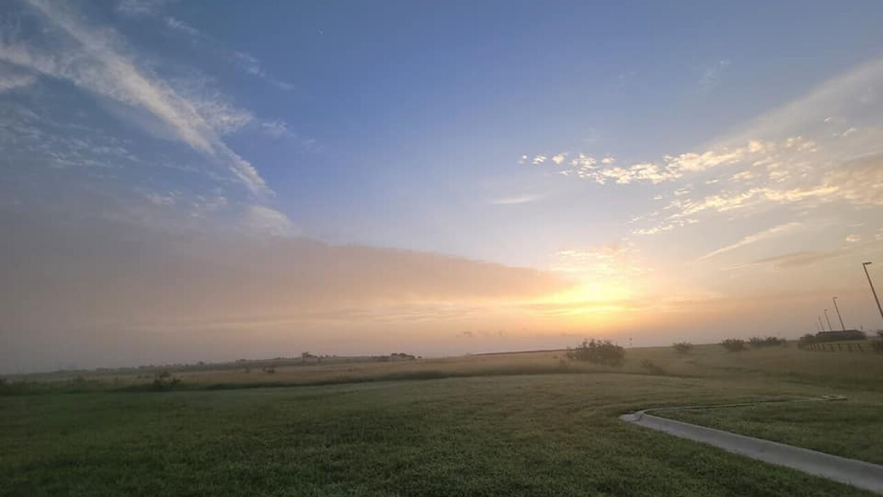 Sunrise at the Fairground - Photo By: FB Coastal Bend Weather Watcher Pattie Moseley-Pinder