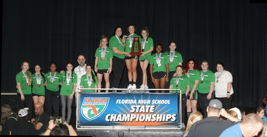 The Suwannee girls weightlifting team won the Class 1A State Championship on Friday. Photo: Paul Buchanan