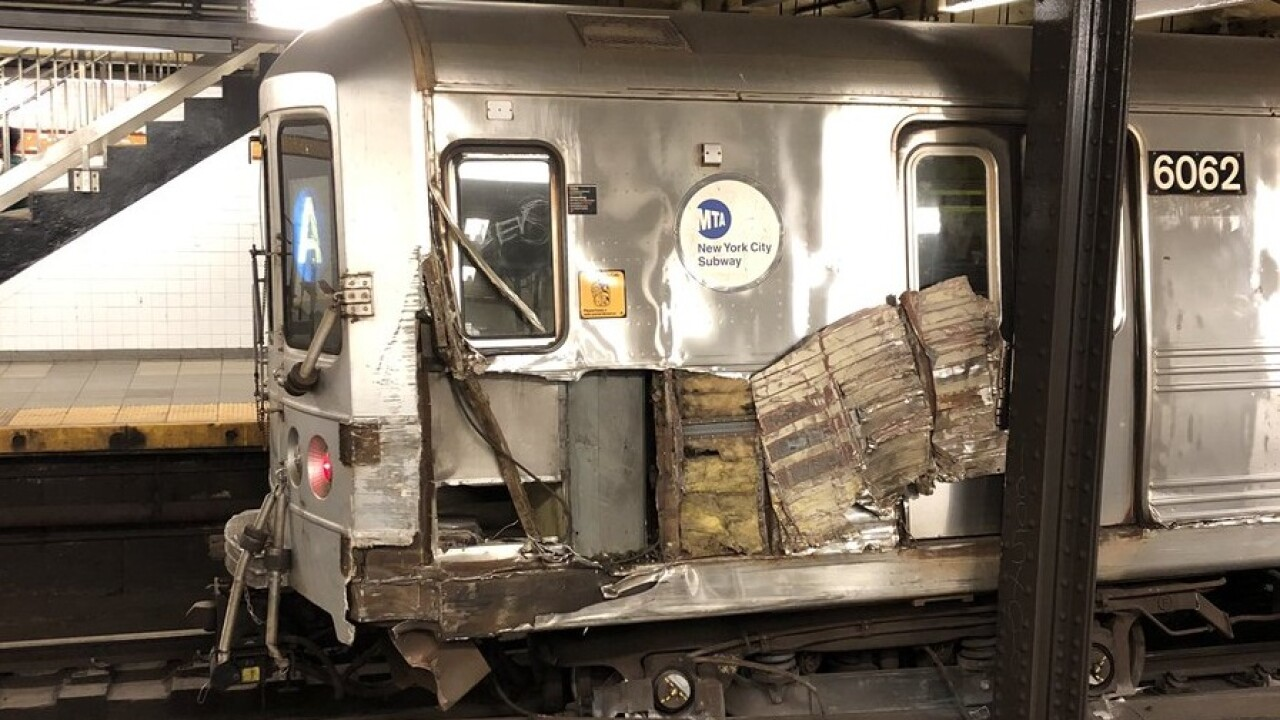 subway train derailment
