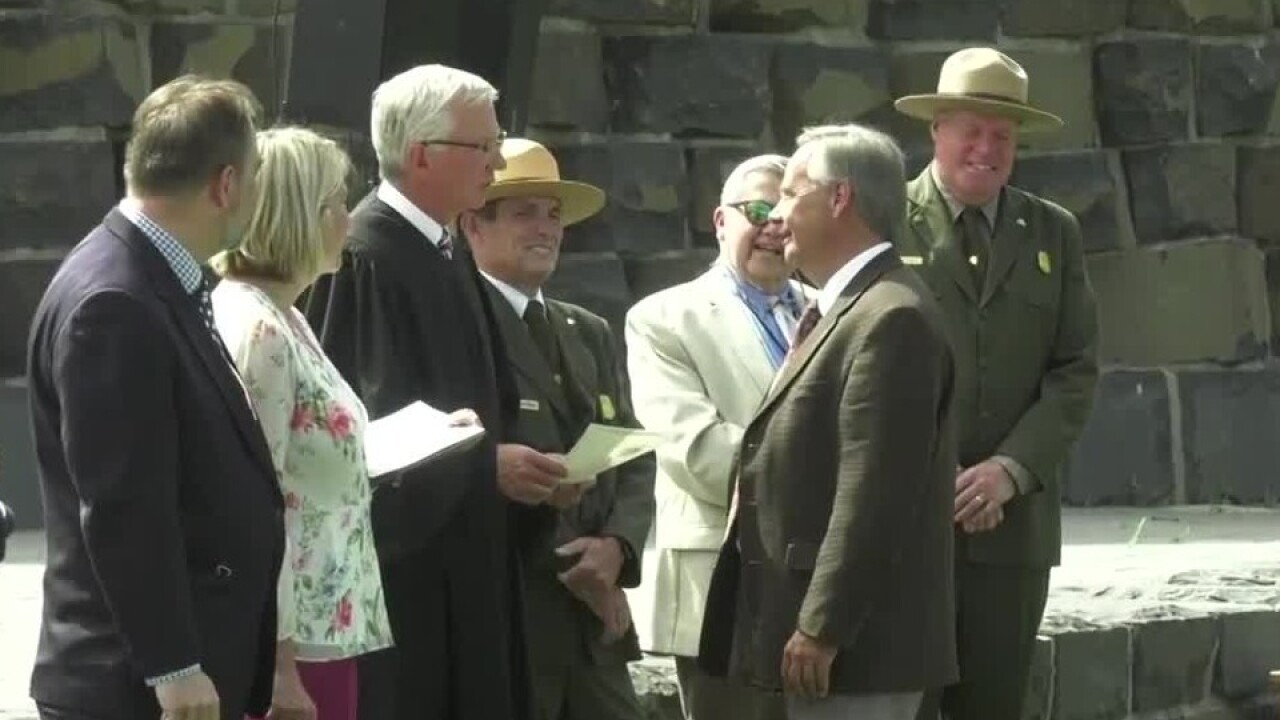 Welcome home: 42 new US citizens sworn in near Yellowstone National Park