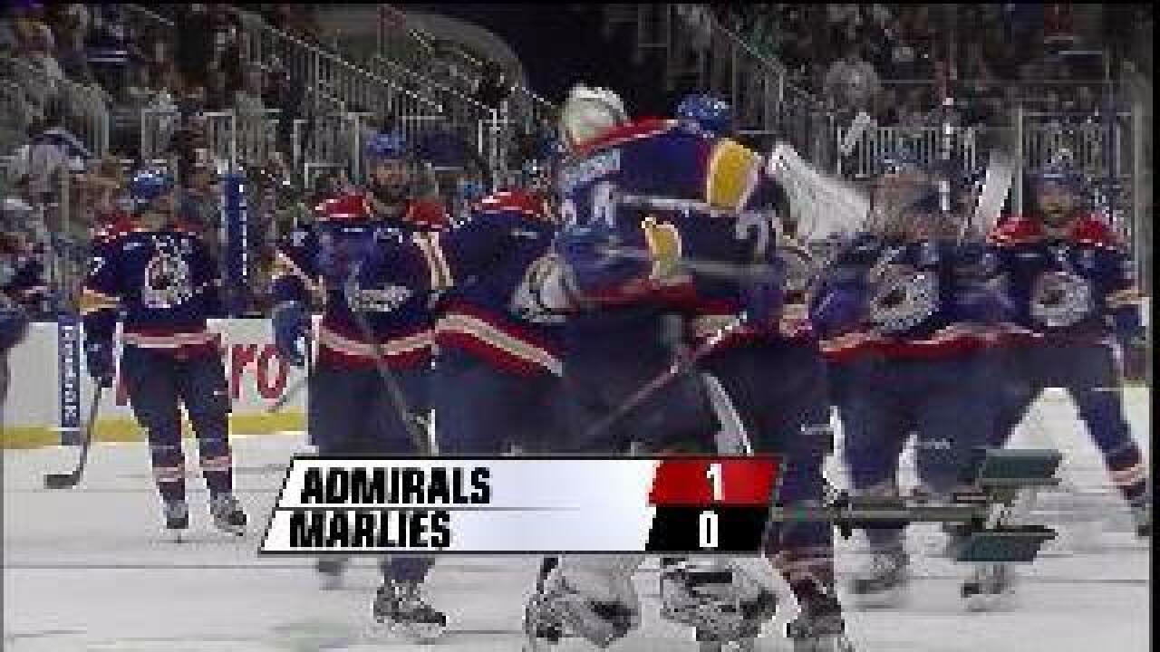 Admirals win game 3 in OT