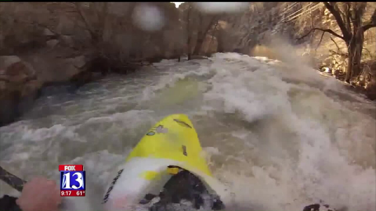 Warm weather, melting snowpack combine to create wild ride for Utahkayakers