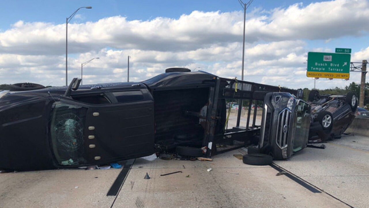 SB I-275 closed due to overturned carrier