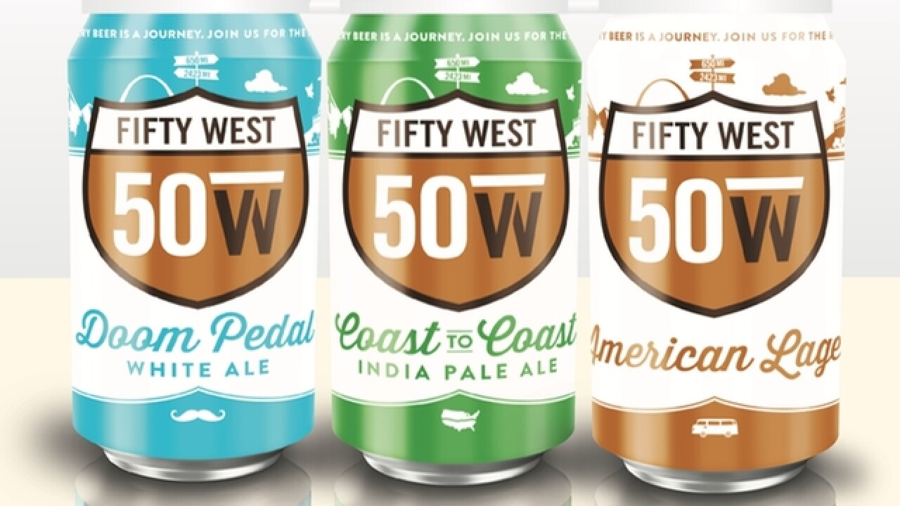 Cans of Fifty West beer to hit store shelves on Jan. 30