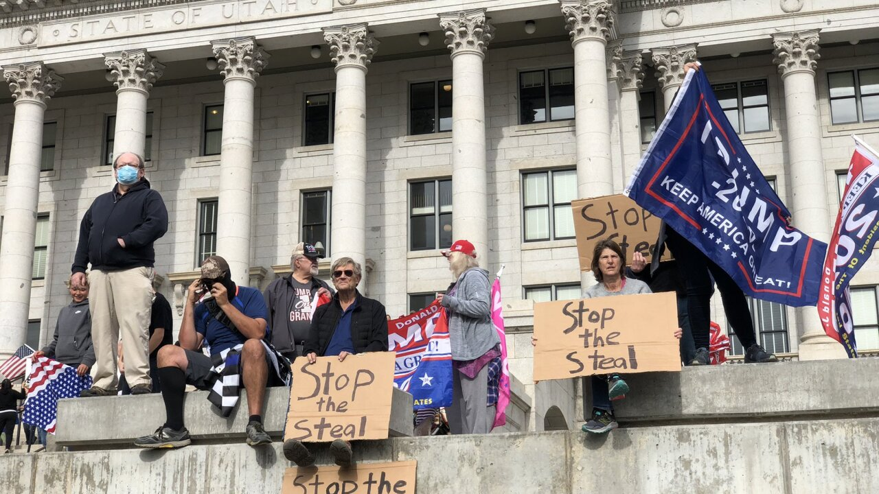 'Stop the Steal' Protest at Utah State Capitol, November 7, 2020