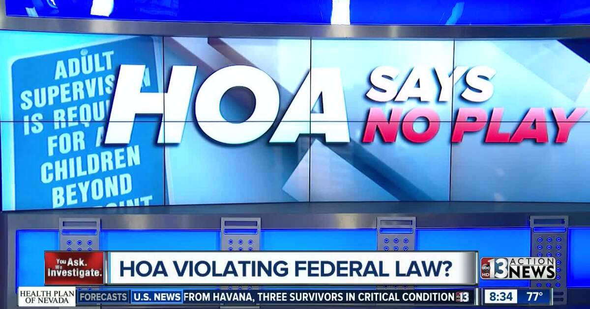 Las Vegas mom says HOA has 'no playing' rule on the books