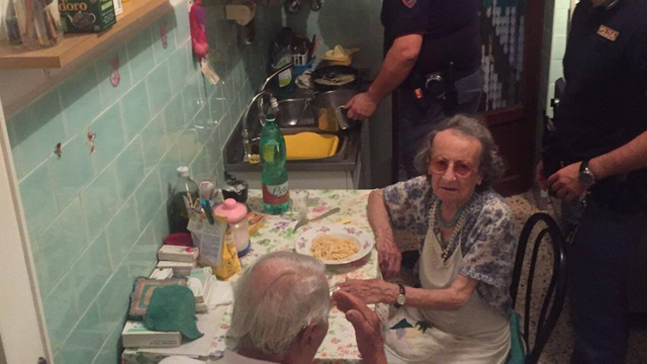 Rome police find lonely elderly couple crying, make them spaghetti dinner to feel better