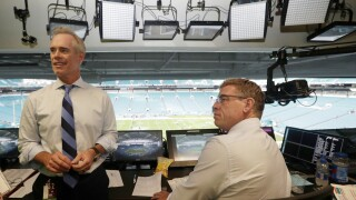 Announcers Joe Buck, Troy Aikman reportedly caught on hot mic calling out stadium flyovers