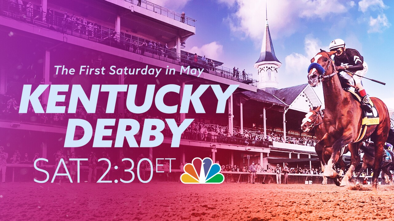 The Kentucky Derby airs at 2:30 p.m. on Saturday, May 1 on WPTV NewsChannel 5.