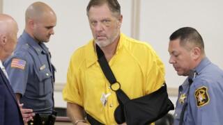 Michael Barisone appears in court in August 2019