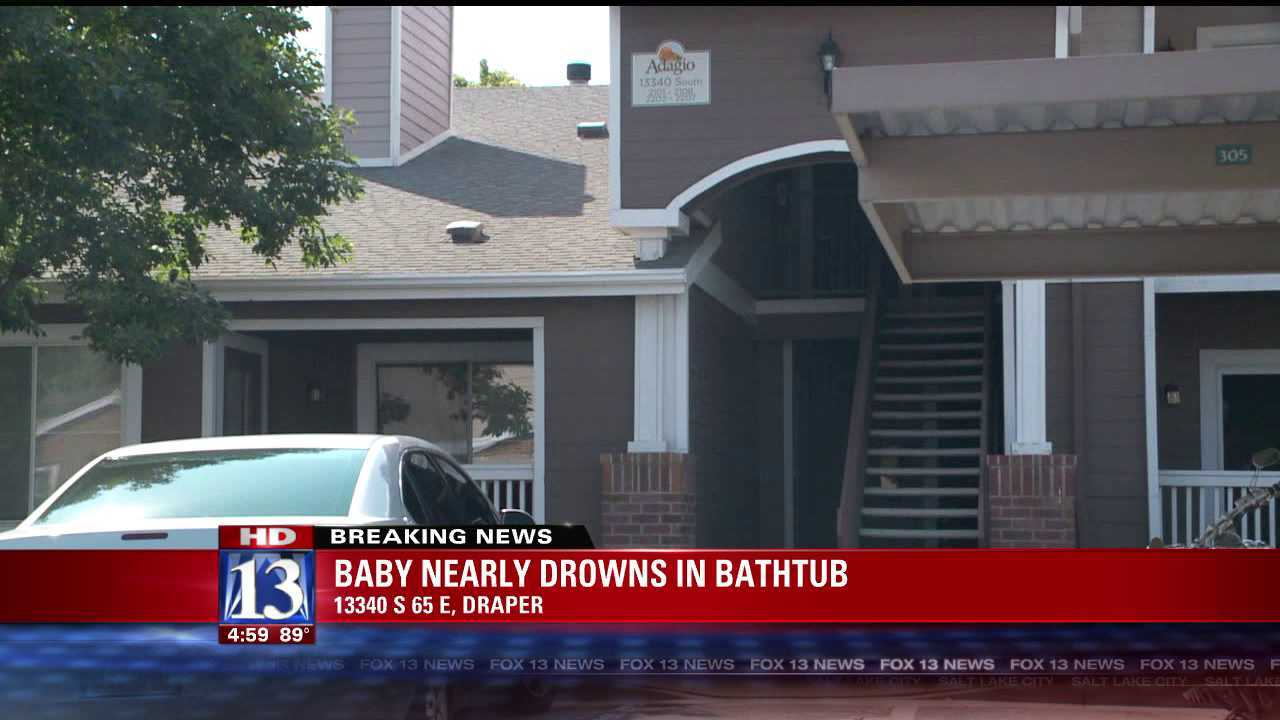 Infant stops breathing after bathtub incident in Draper