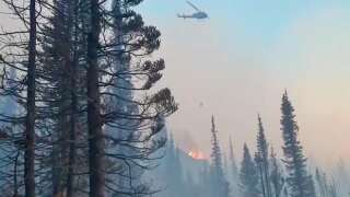Update on Howe Ridge Fire in Glacier National Park (August 26)
