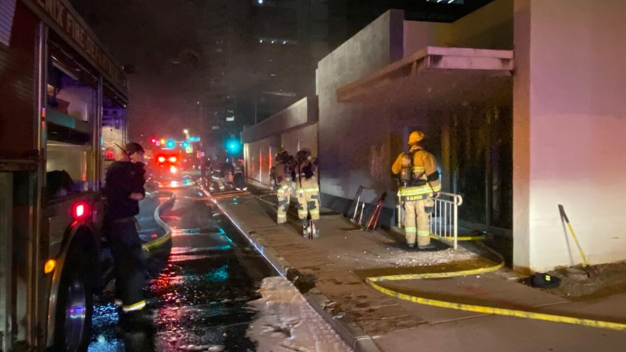 Democratic Party Building Fire