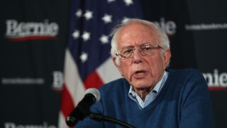 Democratic Presidential Candidate Sen. Bernie Sanders (I-VT) Delivers Campaign Update In Manchester, New Hampshire