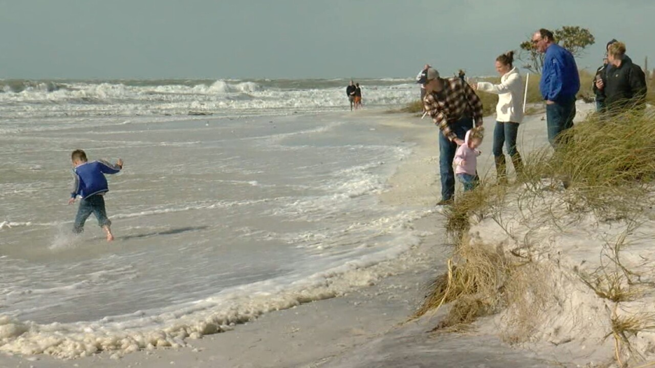 surge of water Clearwater Beach