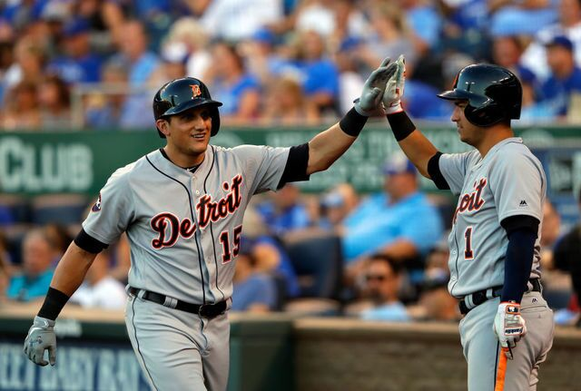 Photo gallery: See how the Detroit Tigers celebrate 2017 home runs