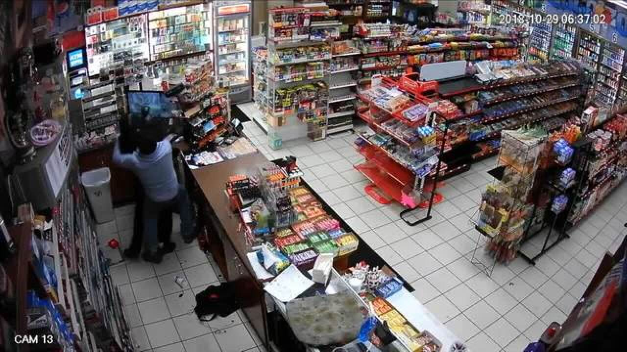 WATCH: Clerk fights off robber at gas station