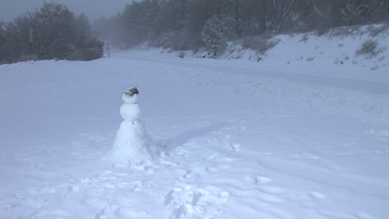 VIDEO: Mt. Laguna is being covered with snow