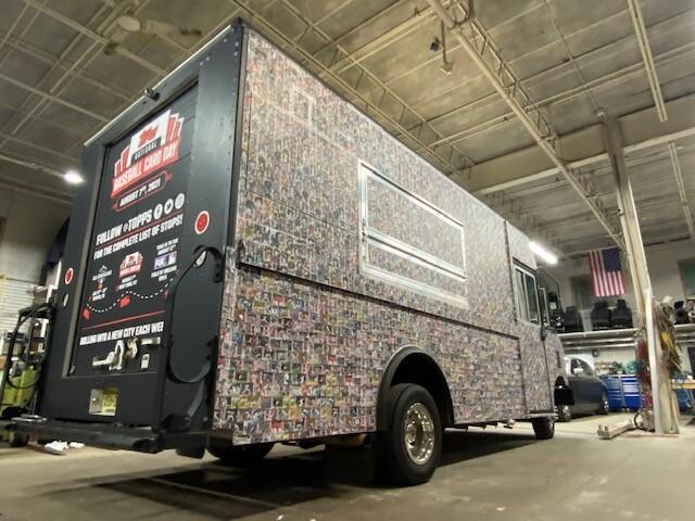 Topps Free baseball card truck