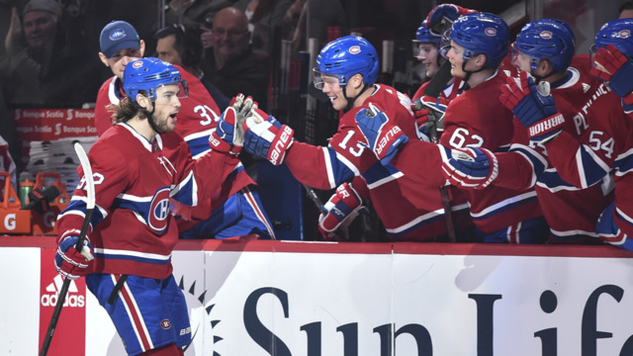 Drouin scores twice to lead Canadiens in win over Red Wings