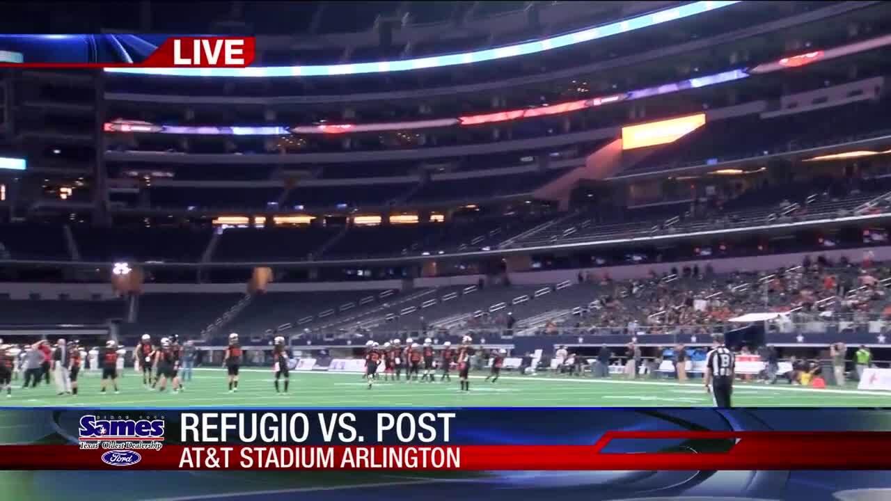 Refugio facing Post tonight at AT&T Stadium