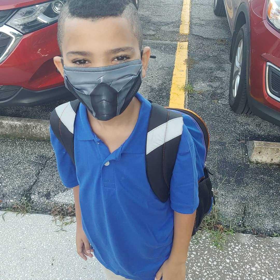 1st grader in mask - Kayla Williams.jpg
