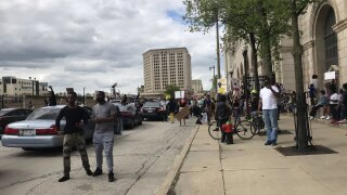Live: Protesters for George Floyd gather outside Milwaukee County courthouse