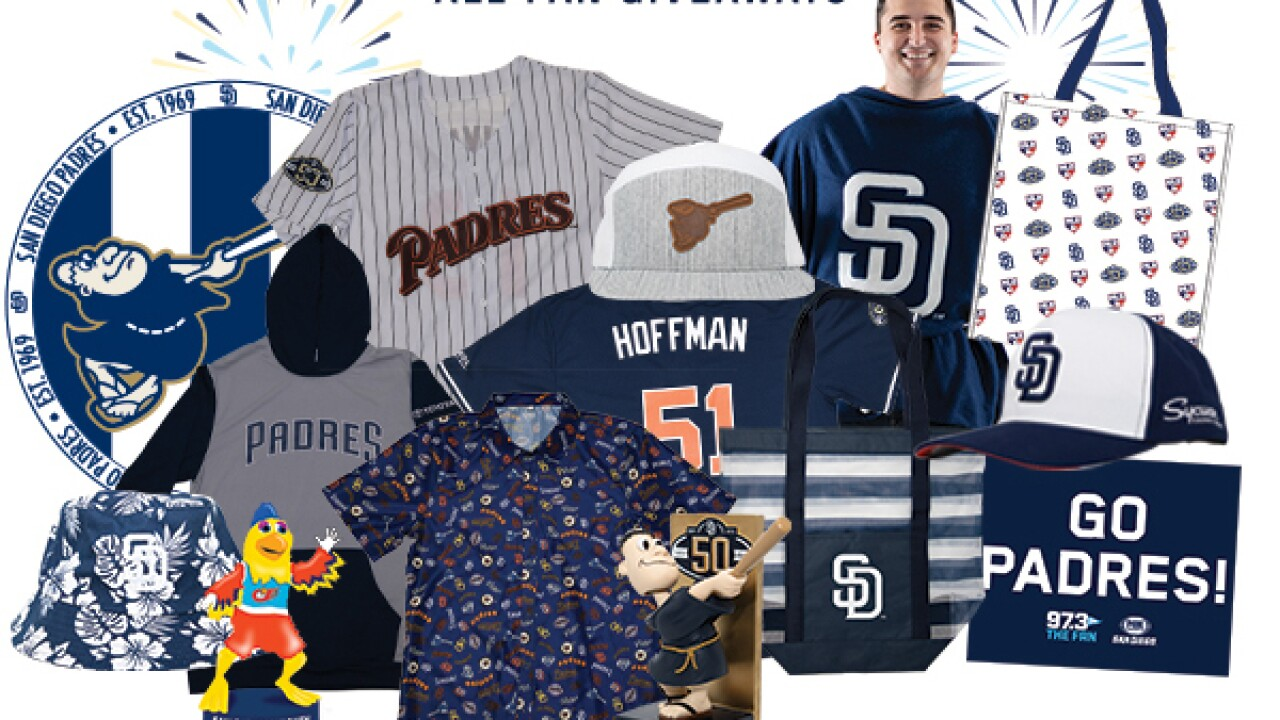hot sale online 528f5 d463d Ballpark swag: San Diego Padres announce 2019 giveaways ...