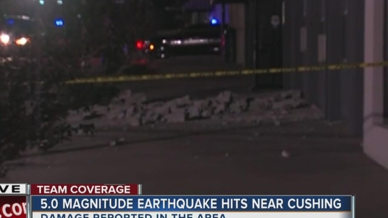 Damage reported following 5.0 magnitude quake