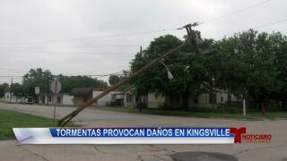 Fuertes tormentas causan daños en Kingsville