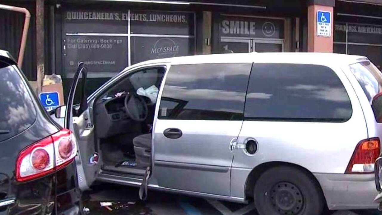 A vehicle slammed into a building near a campaign event held by New Jersey Sen. Cory Booker, who is seeking the Democratic nomination for the 2020 presidential election.