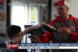 Warsaw, KY marine plans 625 mile hike to raise awareness for veteran suicide