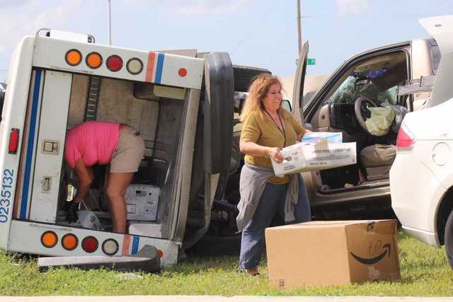 Photos: Postal truck overturns in Cape Coral crash
