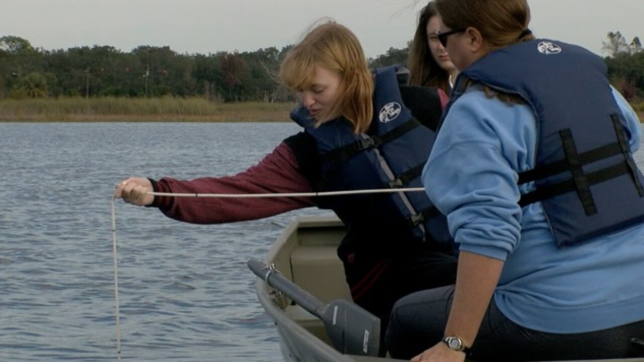 New program lets college students monitor water quality at Hunters Lake