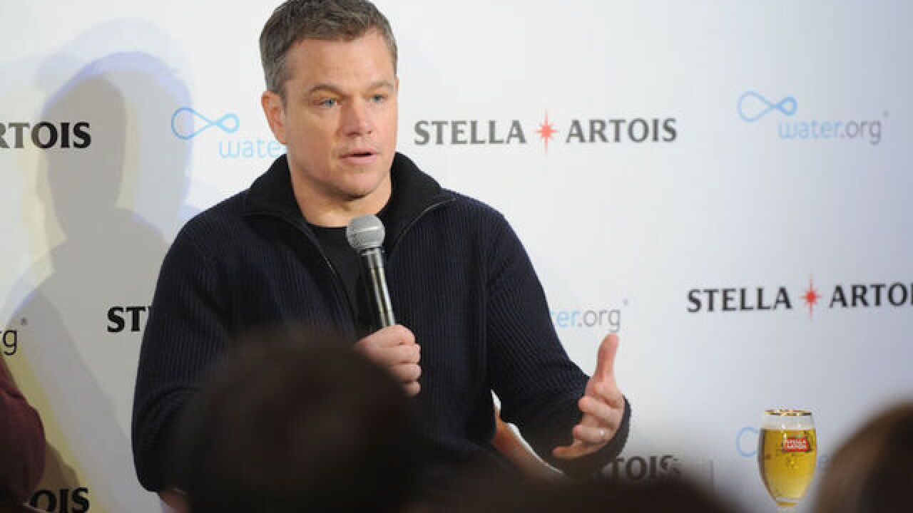 Matt Damon vows to 'close my mouth for a while' after
