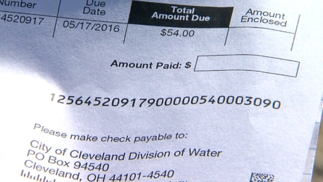 CLE water customer complaints in Boston Heights