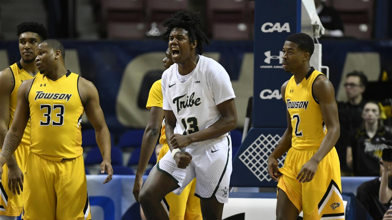 William & Mary men's hoops back in CAA semifinals after trouncing Towson80-66