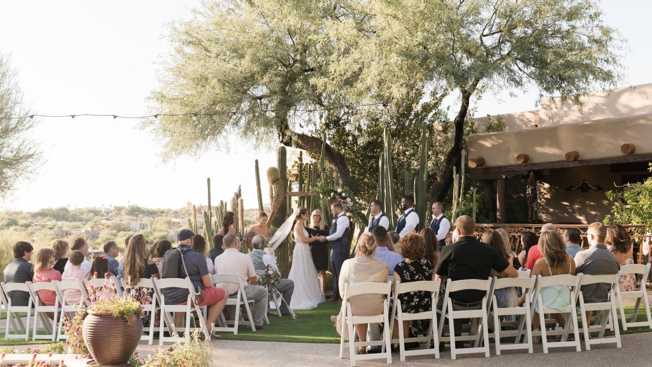Wedding at Hacienda Del Sol Guest Ranch Resort