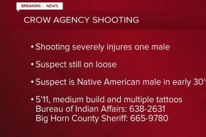 Alert issued following Crow Agency shooting