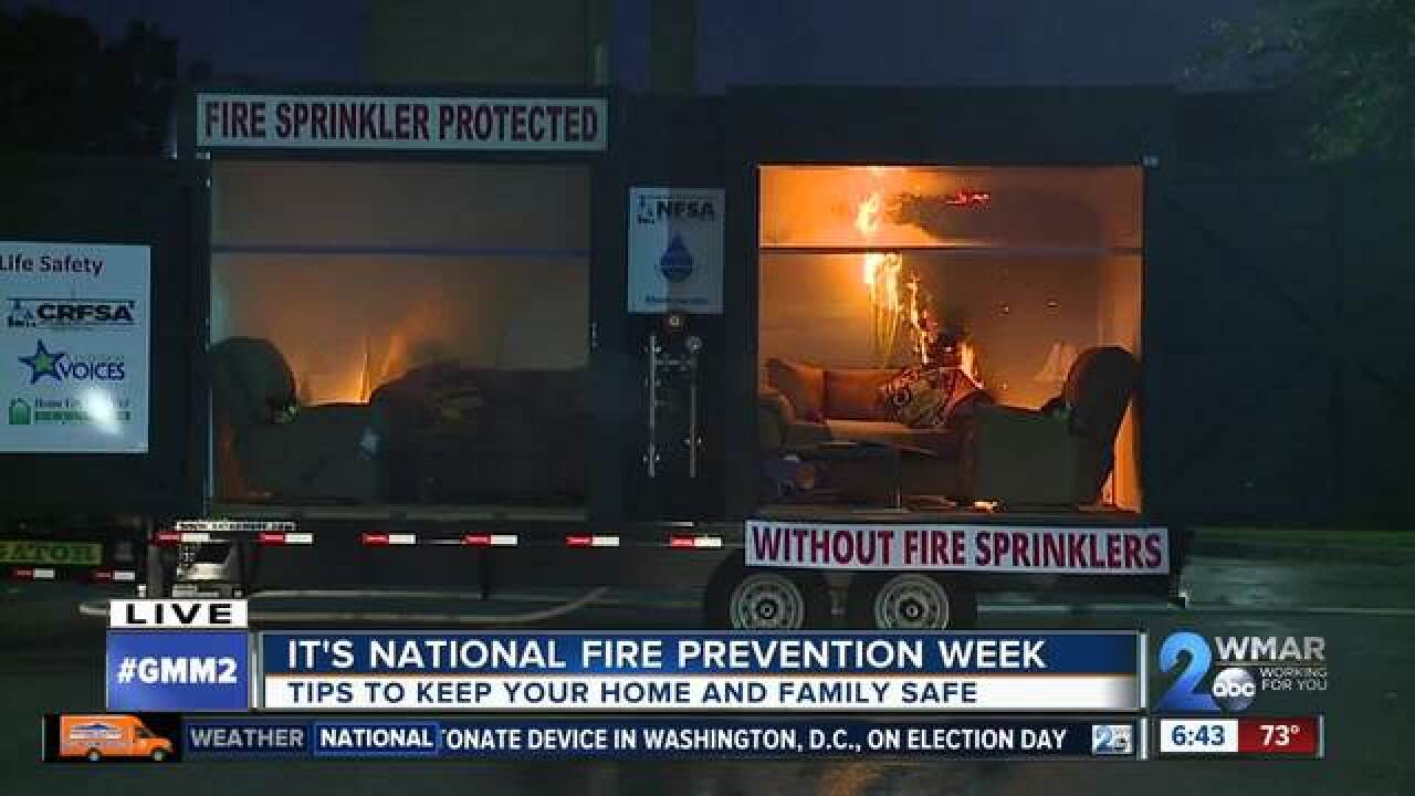 Eye opening demonstration spreads fire awareness