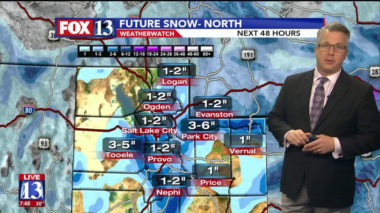 Multiple winter storms expected to bring snow to Utah early this week