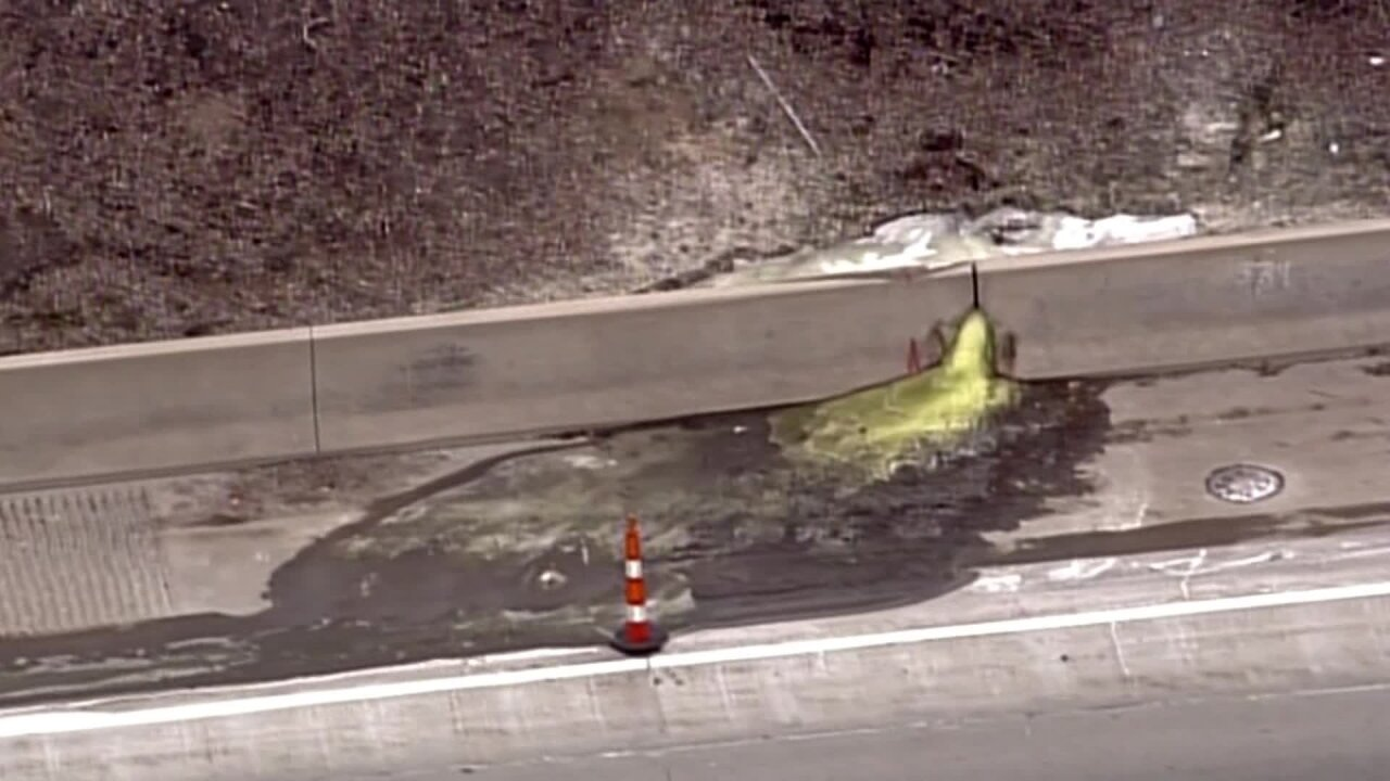 A cancerous green slime was found oozing onto a highway in a Detroit suburb, officials say