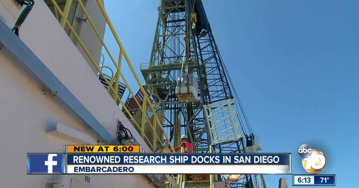 Renowned research ship docks in San Diego