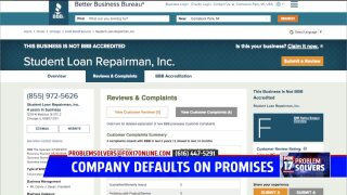 'Loan forgiveness' company accused of taking payment, doing zilch