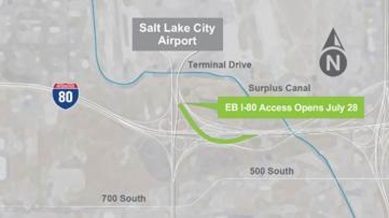 I-80 EB ramp from SLC airport to reopen Sunday