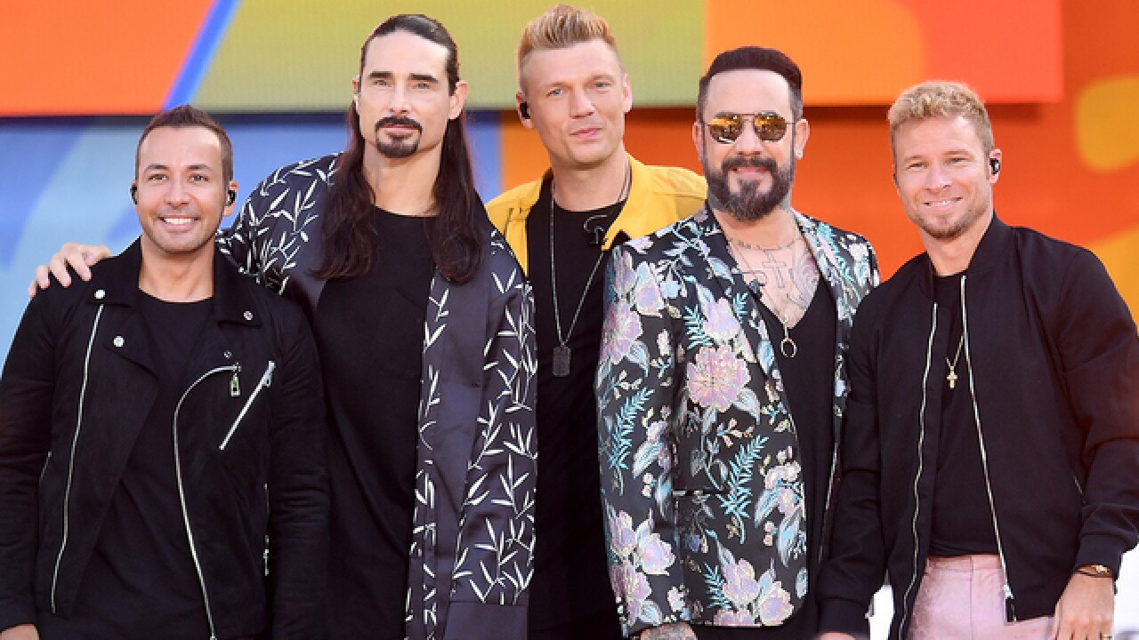 Backstreet Boys performing at Pepsi Center in August