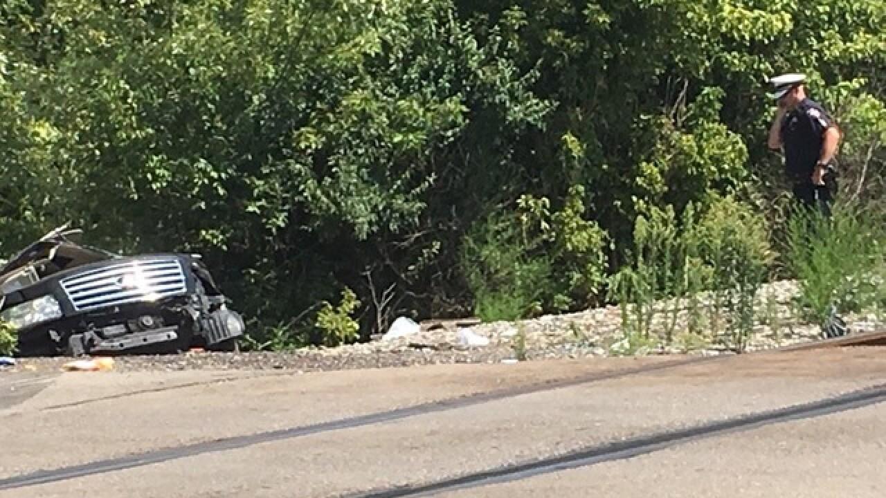 1 hurt when train, vehicle crash in West Chester